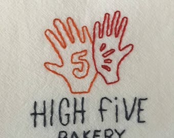 Personalized Hand-Embroidered Flour Sack Towels