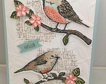 "3-D Bird ""Hello"" Greeting Card"