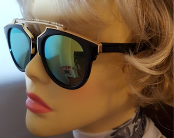 Sparkling Swarovski adorned glamour ClubMaster sunglasses by The Crystal Wardrobe
