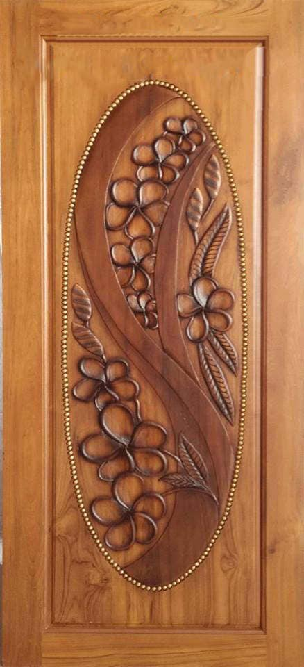 Carved teak wood interior exterior entry entrance front french doors design with flowers. from Edvena on Etsy Studio & Carved teak wood interior exterior entry entrance front french doors ...