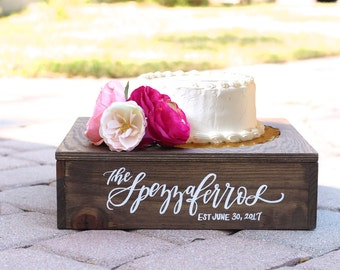 Rustic Wedding Cake Stand, Wooden Cake Stand, Wedding Decor, Vintage Wedding, Rustic Wooden Planter Box, B-1