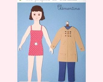 Doll while paper dress * winter * kids * handmade