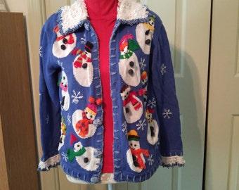 Snowman sweater, snow person sweater, let it snow sweater, snow, winter snowman, December snowman, January snowman, February snowman