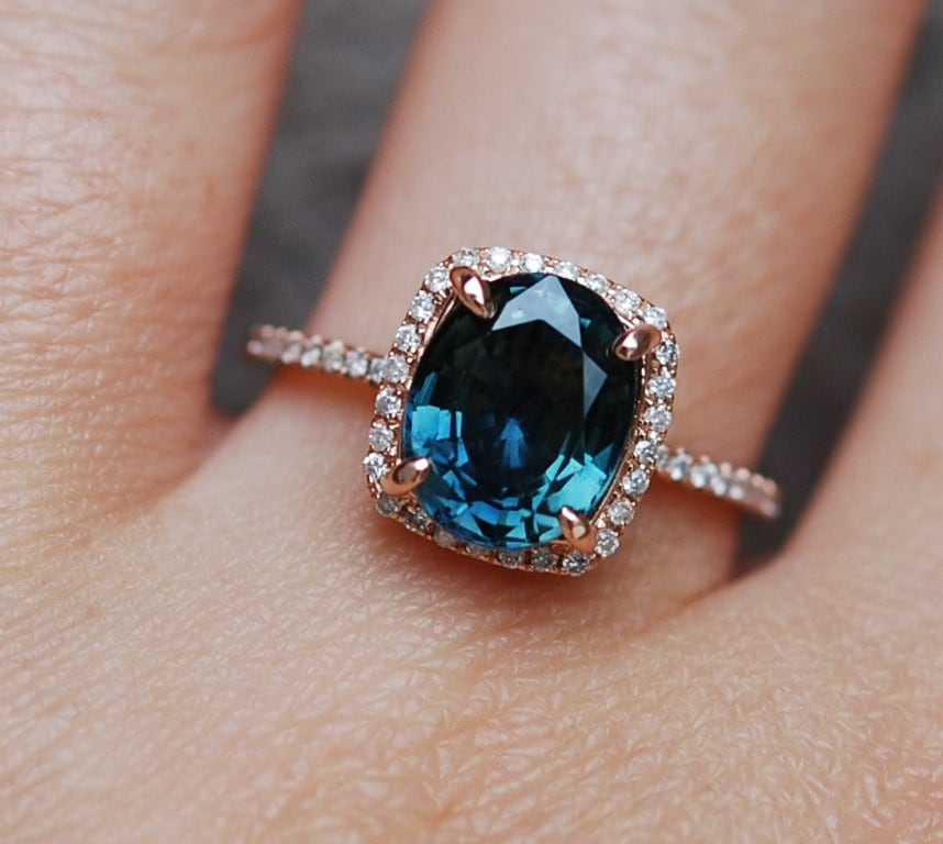 ring ct lace black engagement wedding set band bridal rings blue jewelry gold sapphire carat safire caravaggio product p