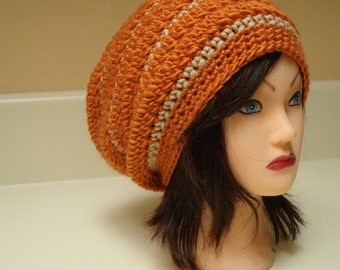 Crochet Slouchy Hat Women's