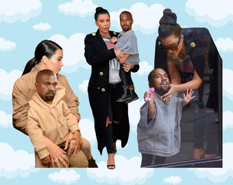 Baby Kanye West Expressions Sticker Pack 3 ct