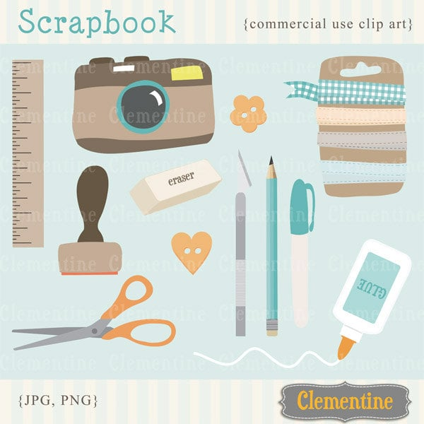 scrapbook clip art scrapbook clipart camera clip art images rh etsy com printable clipart for scrapbooking cute clipart for scrapbooking
