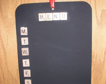 Menu Board is Magnetic & Chalkboard ~ Magnetic Menu Board ~ Chalkboard Menu Board ~ Organized Menu Planning