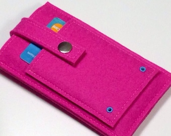 Shocking Pink - iPhone or iPod sleeve - Pink merino wool felt