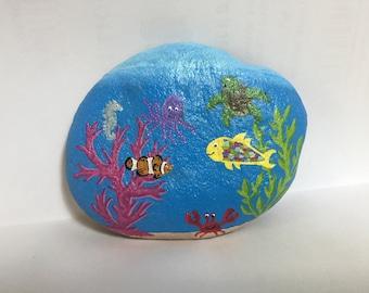 Coral Reef Painted Rock