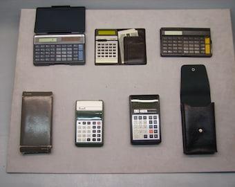 Vintage Calculators ca.1970 1990 /