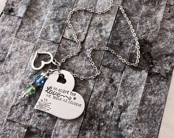 Love Necklace / Inspirational Necklace / Strength Necklace / Just for Her