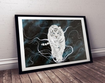 ORIGINAL ARTWORK - White Tiger