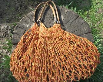 String bag Market bag Bag mesh Crochet mesh bag Crochet produce bag Grocery bag Soviet bag Knit market bag Mesh bag