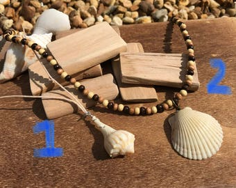 Real sea shell pendant necklaces
