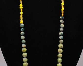 Vintage and Picasso Bead Necklace