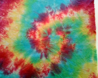 Coupon sporty original multicolored hand dyed fabrics