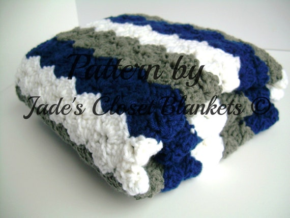 Crochet baby blanket pattern instant download blue grey and crochet baby blanket pattern instant download blue grey and white crib size and travel size included from jadesclosetblankets on etsy studio dt1010fo