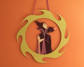 Maleficent Ring of Fire Wreath