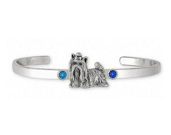 Yorkie Bracelet Jewelry Sterling Silver Handmade Yorkshire Terrier Bracelet YK292X-SCB