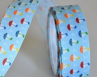 "1 meter printed Ribbon ""Boats"" - 22 mm - not expensive!"