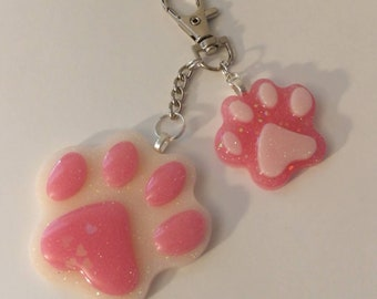 Pink Paws Keychain