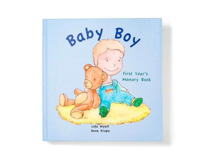 Baby Boy First Year's Memory Book - Light  Hair/Light Skin