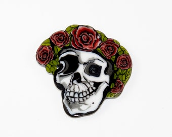 Large Skull and Roses Coin