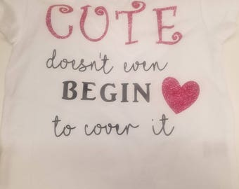 Cute doesn't even begin to cover it- infant-toddler tshirt