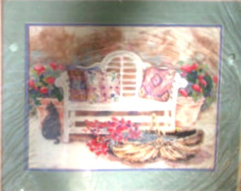 No Count Cross Stitch Santa Fe Bench Dimensions From The Heart Designed By Helen Paul