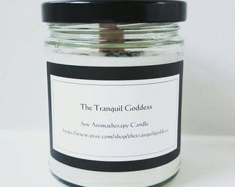 Lavender and Peppermint  6oz Soy Glass Candle, handmade all natural product essential oils only