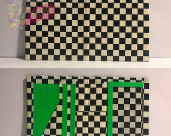 Checkers and Green Duct Tape Smallet