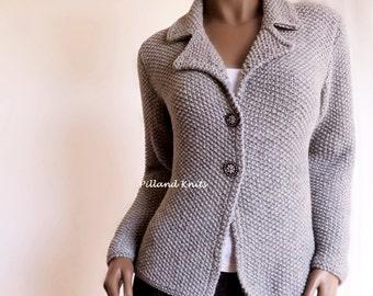 Damen Hand stricken Jacke Alpaka-Wolle Pullover Hand stricken Strickjacke, viele Farben vorhanden