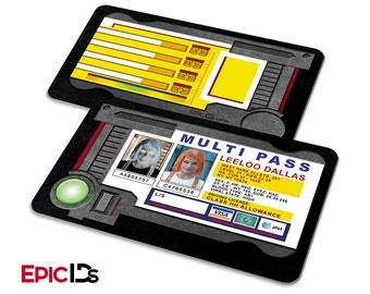 The Fifth Element Inspired Leeloo Dallas Multi Pass w/Electronic Holder Effect