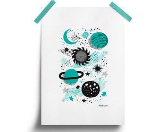 Space A4 Print