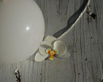 White Orchid pendant