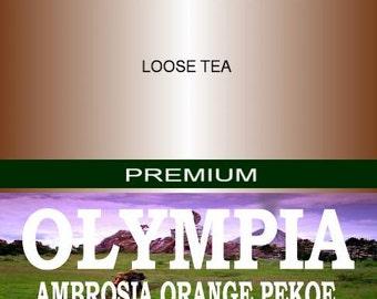 Olympia AMBROSIA Orange Pekoe. 4oz or 2oz with hints of cinnamon and citrus.