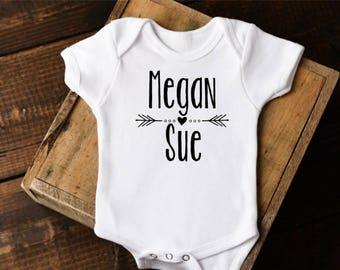 Unique Baby Gift, Custom Baby Onesie®, Monogram Onesie, Custom Onesie, Personalized Baby Gift, Baby Girl Clothes, Boho Onesies,Monogram Baby
