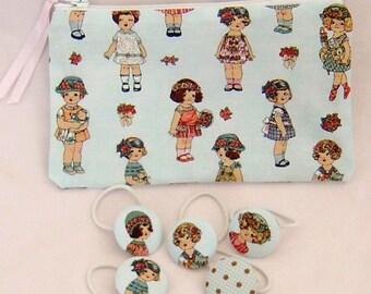 Kit + five elastic hair for little girls (blue)