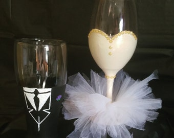 Wedding Glass Beer Cup & Wine Glass