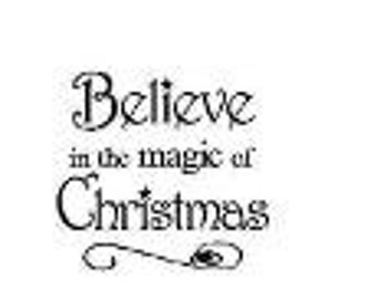 Believe Magic of Christmas Embroidery Cross Stitch Pattern