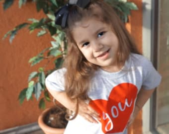 Kids love shirt, i love you, i heart you shirt, kids valentines shirt, hearts, valentines day shirt, kids valentines gift, kids heart shirt