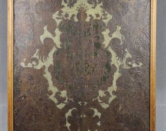 Dutch Ornamental Gilt Leather Wallpaper Wall Hanging 17th century Amsterdam