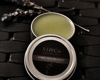 Healing Salve - all natural salve for minor cuts, scrapes and burns. Relief of Eczema or dry, itchy skin. - VioletJuneCo