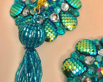 Mermaid scale pasties  with tassel