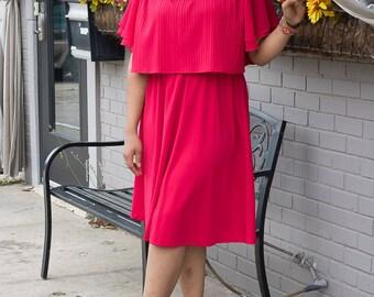 Plus Size Vintage 70s Dress