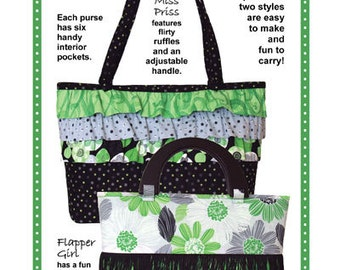 Prissy Purses ~ Sewing Pattern for a Fashionable Purse ~ Fun purses in two styles are easy to make ~ from Patterns by Annie ~ PBA146