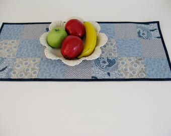 "Table Runner, Quilted Table Runner, 12 1/2"" X 28 1/2"", Patchwork Table Runner"