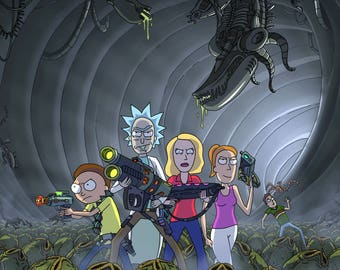 Rick & Morty Vs Xenomorphs