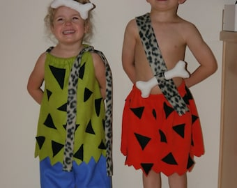 Matching Pebbles and Bamm Bamm costume set for toddlers/babies  sc 1 st  Etsy & PRE-ORDER Handmade Pebbles Flintstone costume for babies and